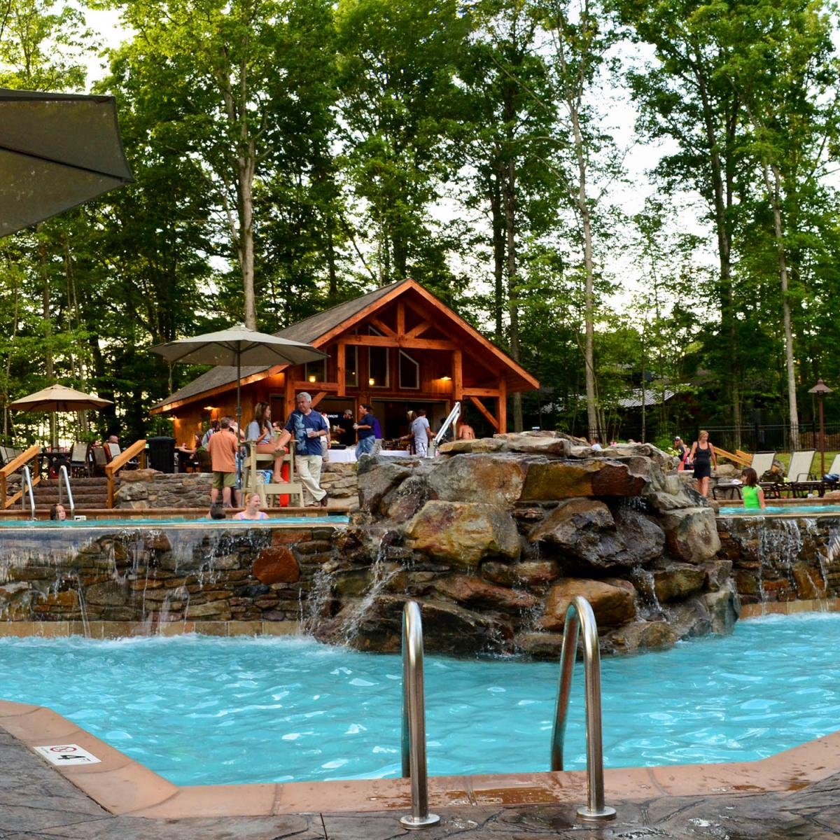 The pool at Adventures on the Gorge