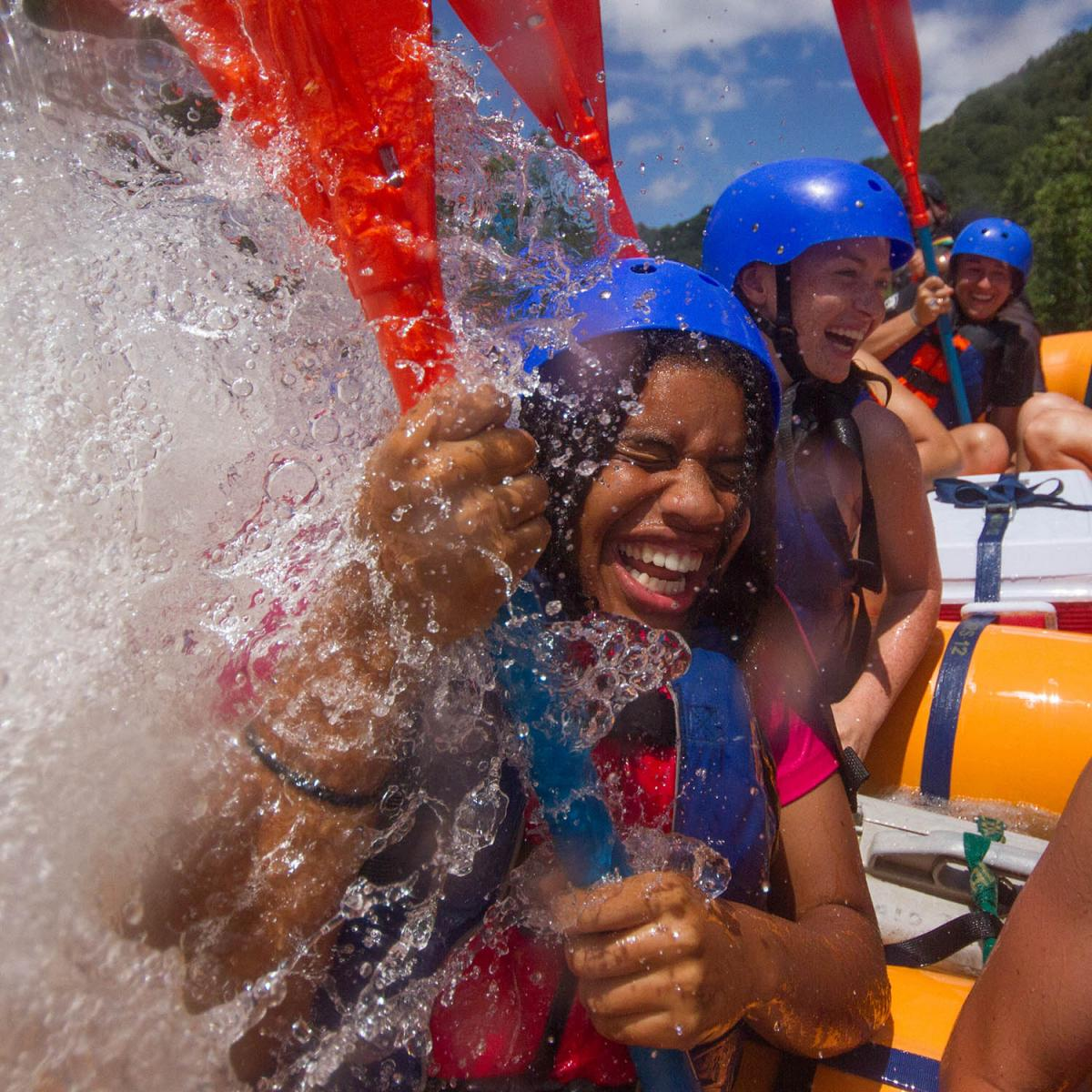new river gorge white water rafting trip for Marietta College