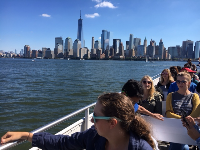 Marietta College Honor Students on the Boat to Ellis Island in NYC