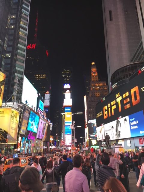 Marietta College Honors Students in Times Square in NYC