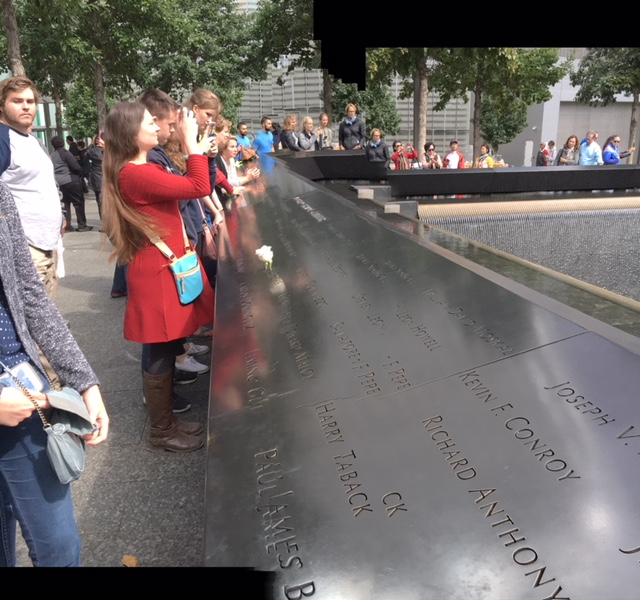 Honors Students from Marietta College at the Ground Zero Memorial