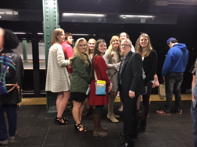 Marietta College Honor Students Waiting for the subway after the play