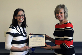 Christy Burke receives the Marietta College Inspire Award