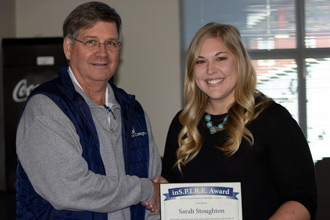 Sarah Stoughton receives the Marietta College Inspire Award