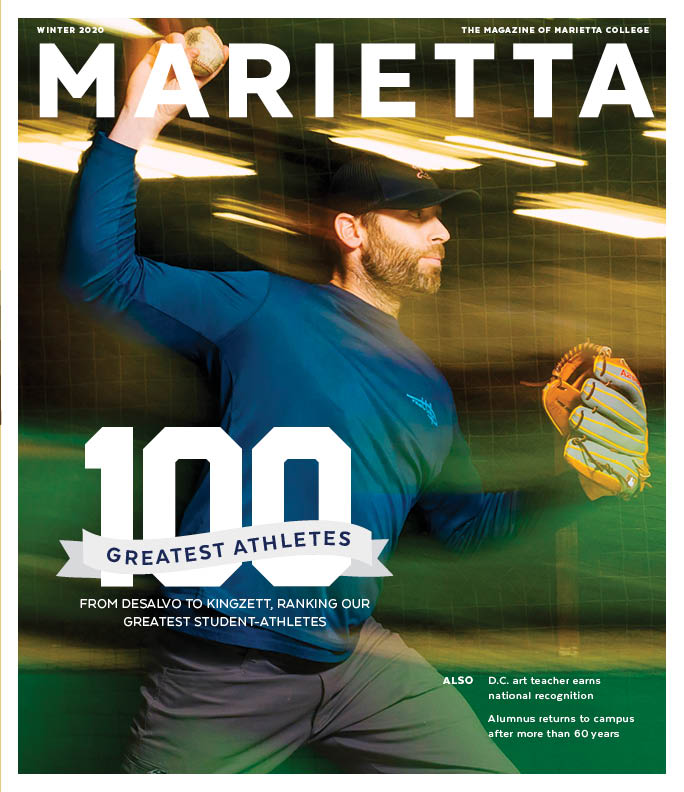 Winter 2020 Cover of the Marietta Magazine