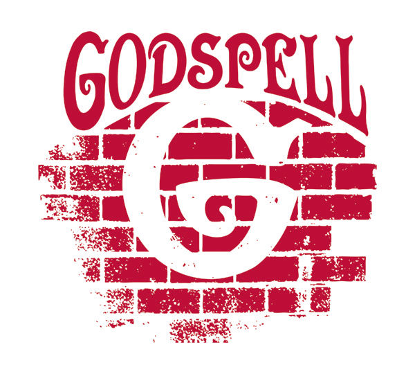 Godspell logo by Music Theatre International for the Marietta College's 2019 Theatre Season