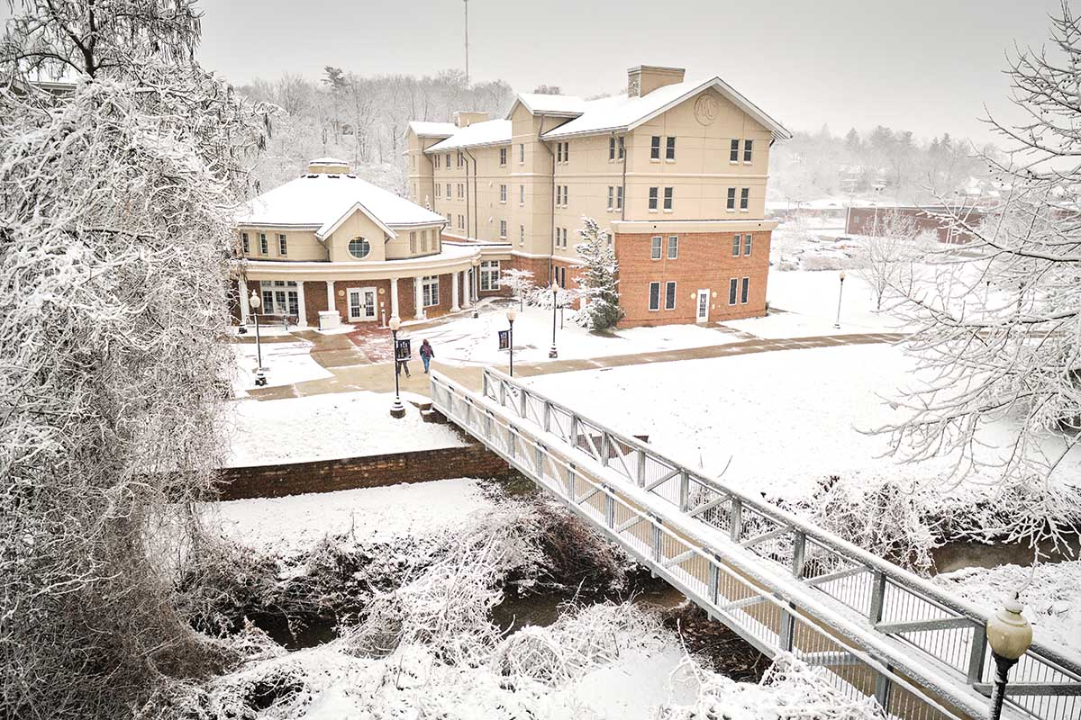 Light snow blanketed campus earlier this year