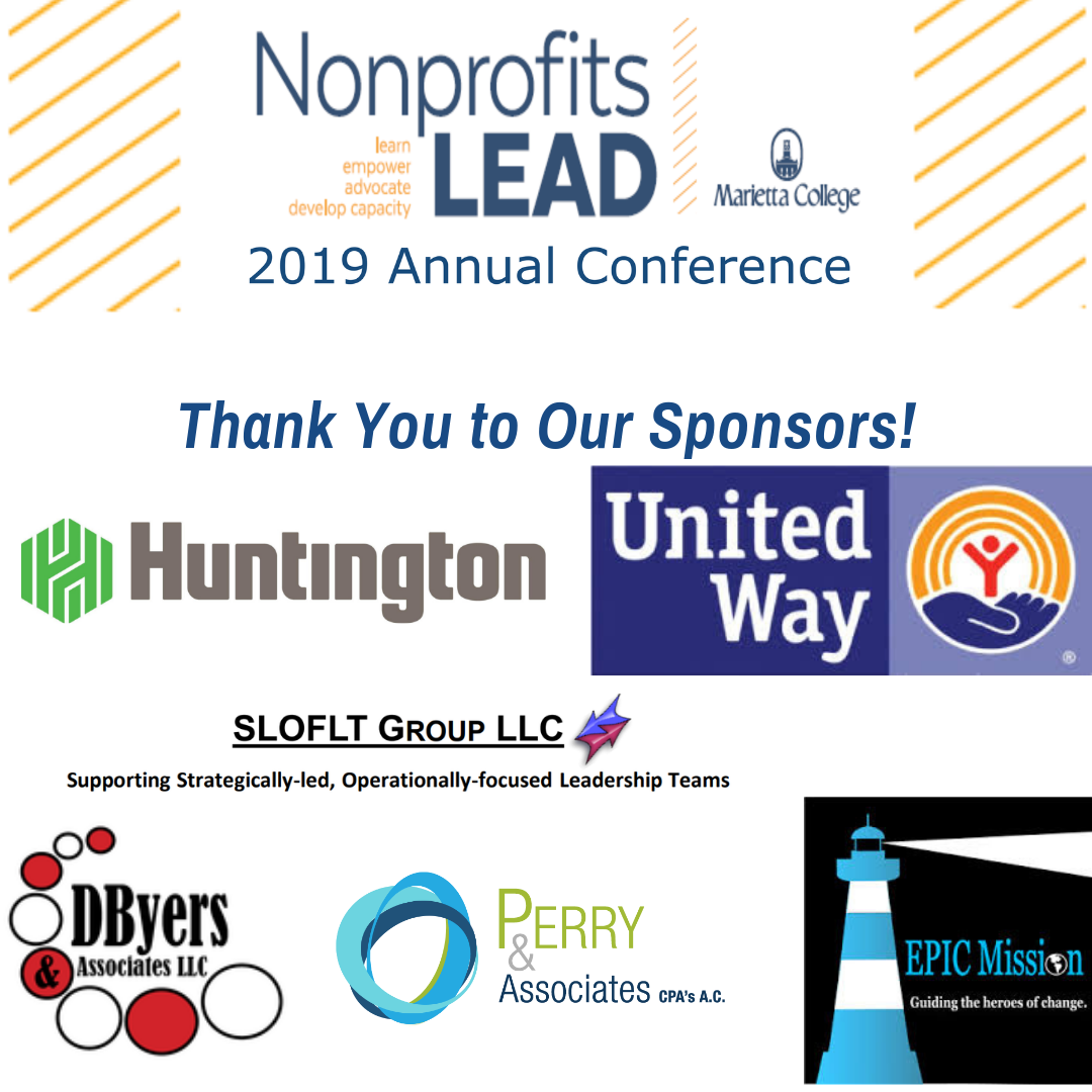 Nonprofits LEAD banner made of sponsor logos