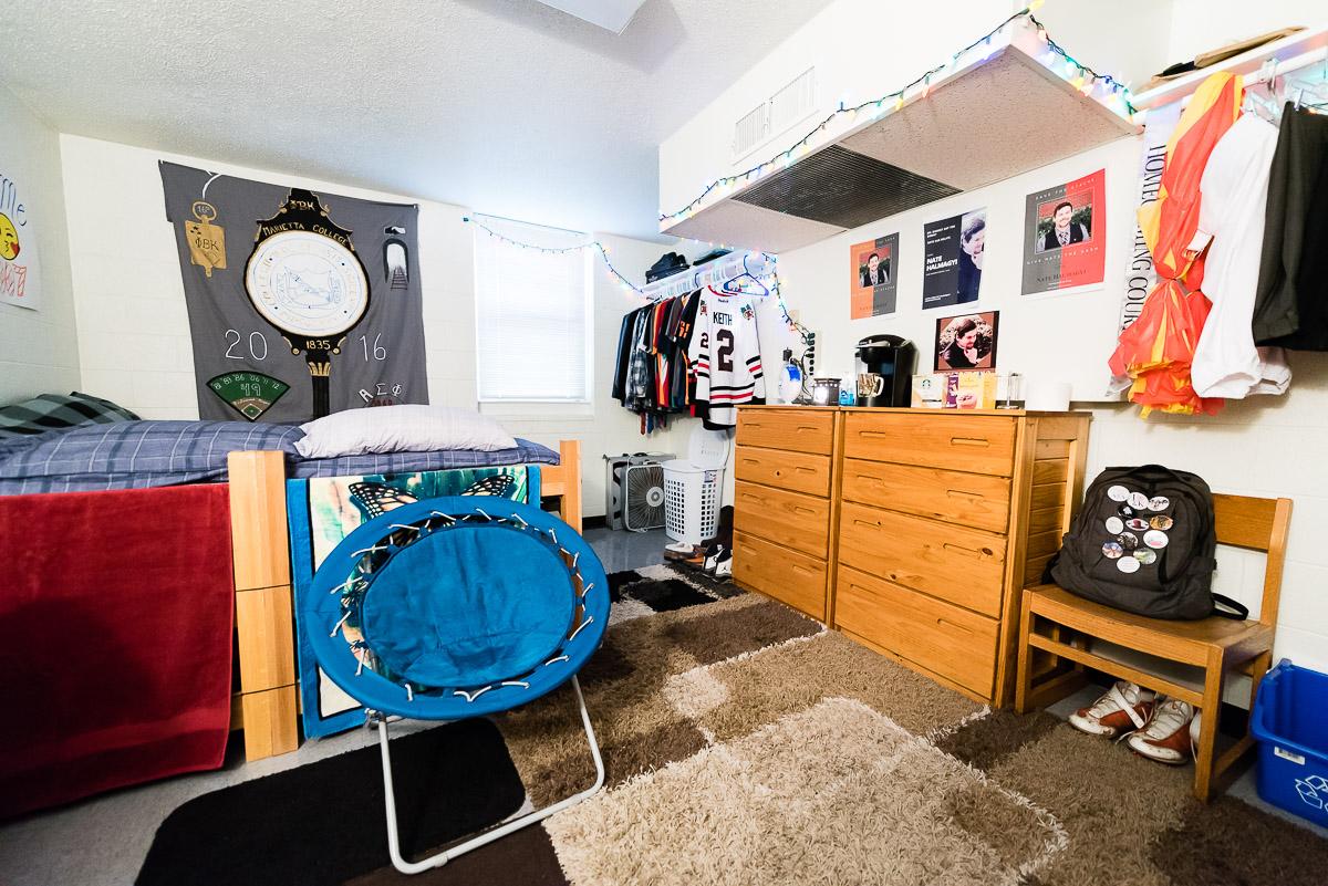 Small Single Dorm Room