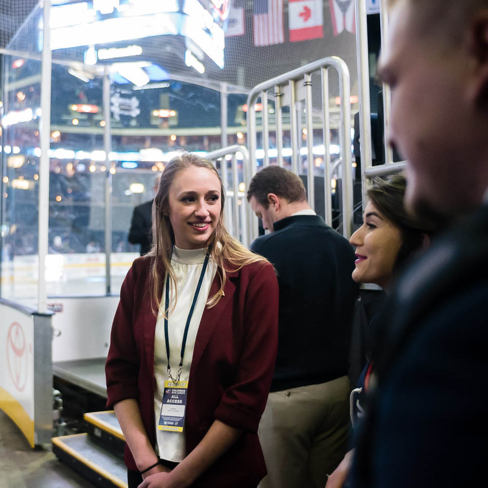 Amanda Arrowood '19 said she enjoyed learning from professionals in the NHL