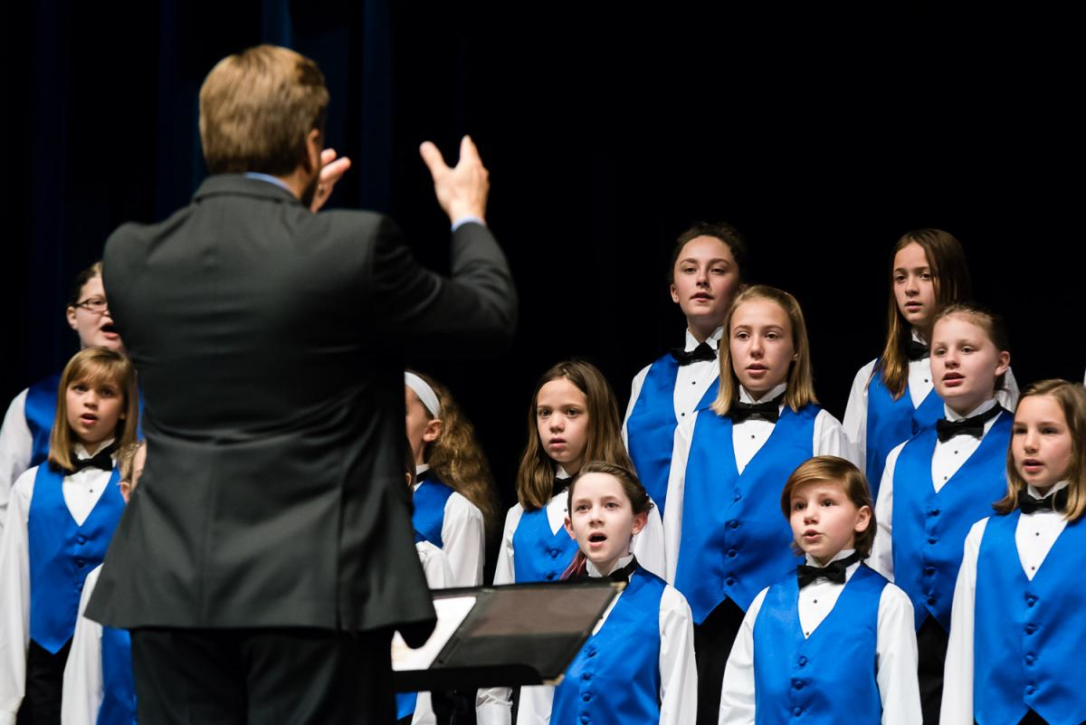 Marietta Children's Choir performed at Peoples Bank Theatre