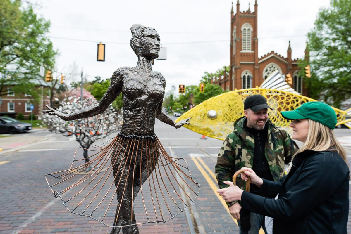 Brick Street Bash Art on display