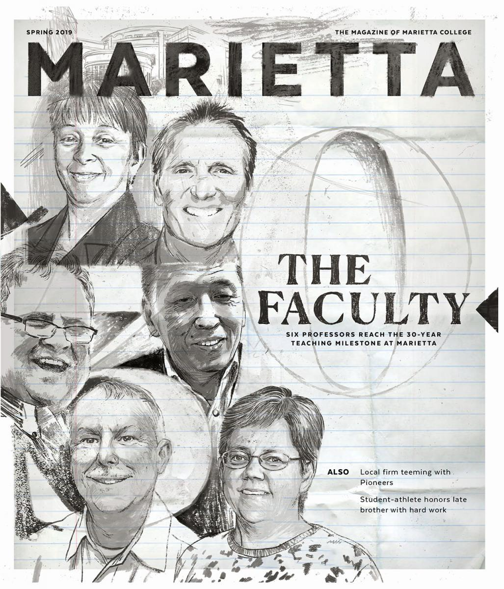 Spring 2019 Cover of the Marietta Magazine