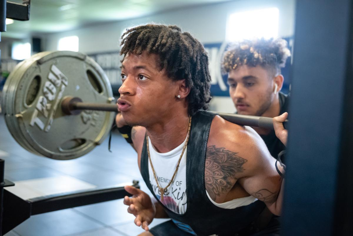 TJ King '22 Marietta College football player and powerlifter