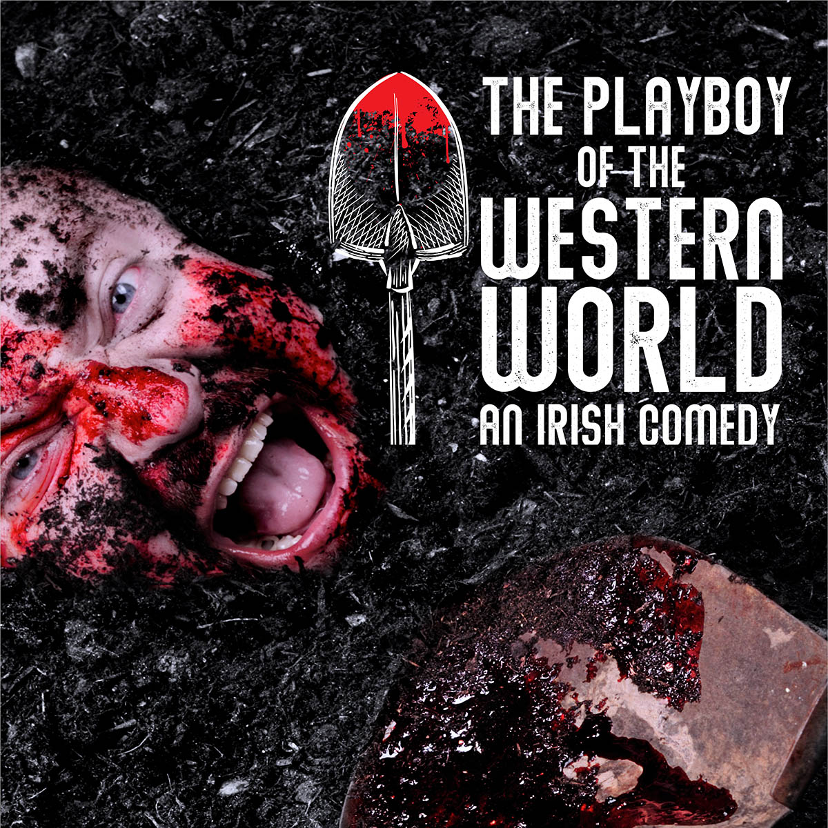 The Playboy of the Western World logo for the Marietta College's 2019 Theatre Season