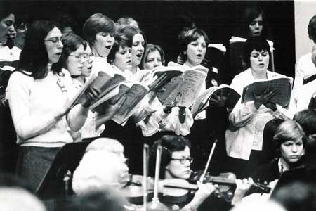 messiah rehearsal in the 1970s