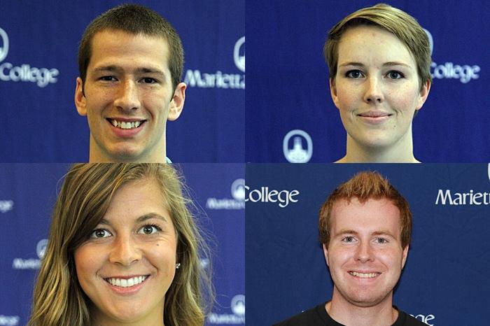 Marietta students Sheldon Mullett, Jennifer Starkey, Emily Tornes and Charles Drennen