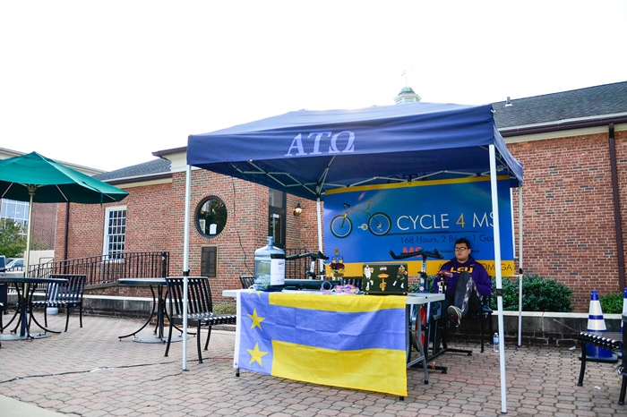 ATO member participating in Cycle4MS
