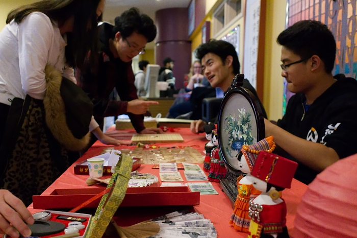 Students at Chinese culture day