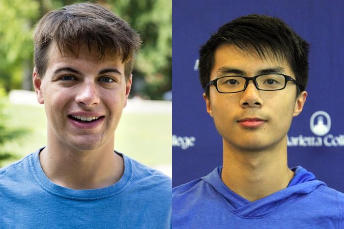 Headshots of David Erzen and Xuan Zhu