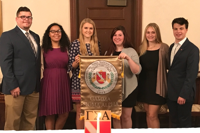 Students inducted into Gamma Sigma Alpha