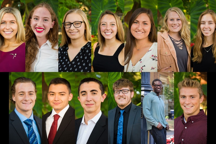 headshots of the 2019 homecoming court