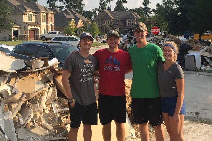 Marietta College graduates in Houston after Hurricane Harvey