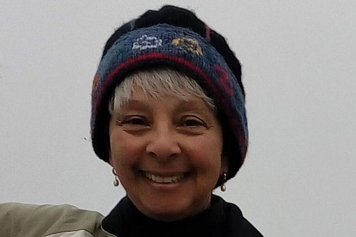 Professor Grace Johnson in winter time