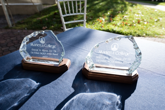 Trophies that are presented during the MCAA Awards ceremony