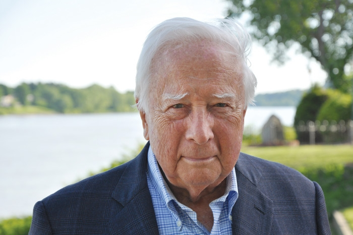 Author David McCullough by the Ohio River