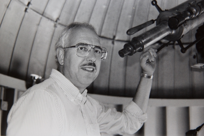 John Michel at a telescope