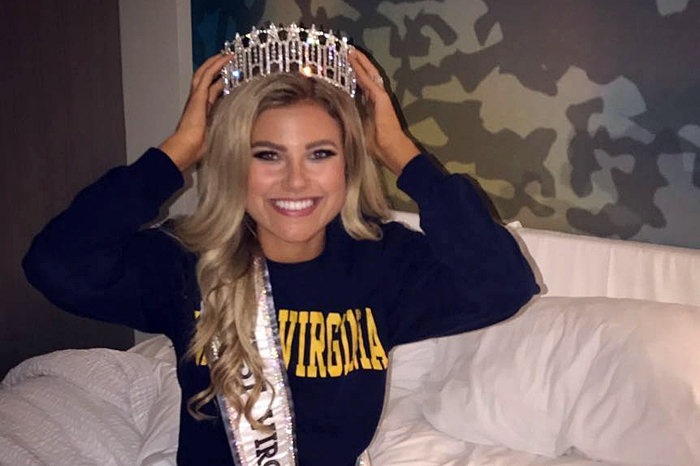 Casey Lassiter wearing her Miss USA crown