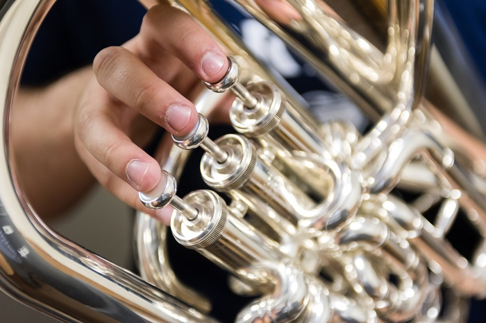 close up photo of hands on an instrument