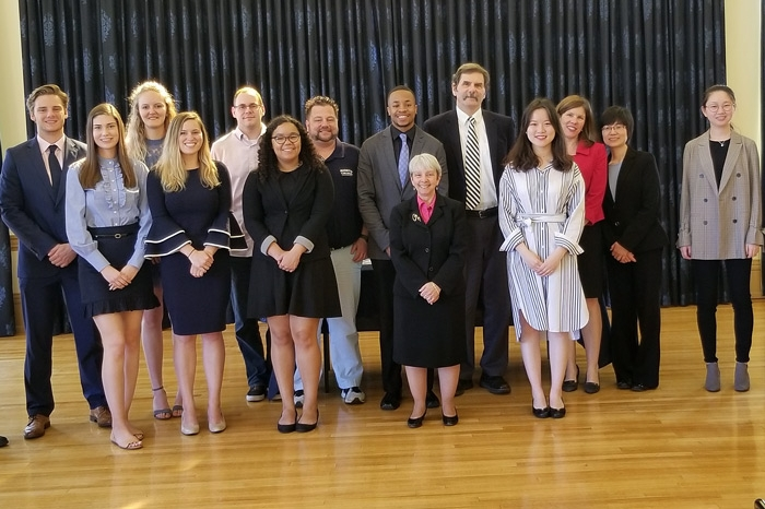 Members of the 2019 Tau Pi Phi induction class