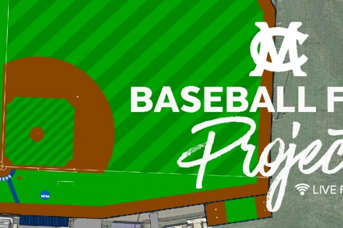 Graphic of baseball field project