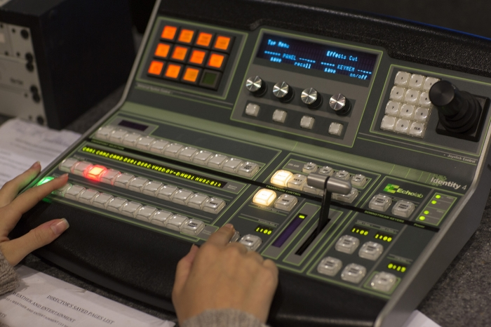 TV controller at Marietta College