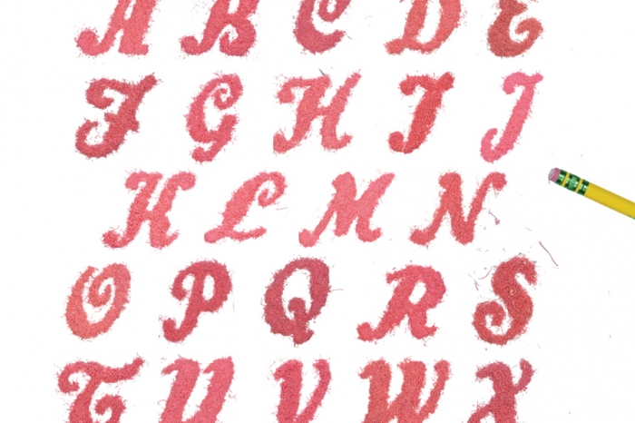 An example of a created font showing all letters of the alphabet