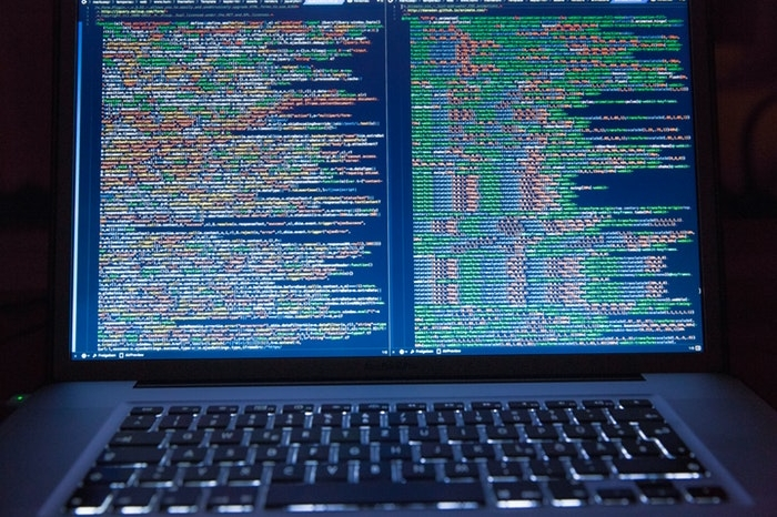 Coding on a computer screen
