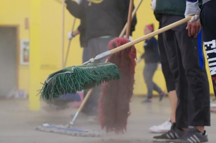 Dusty brooms
