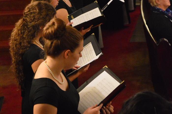 women singing in choir