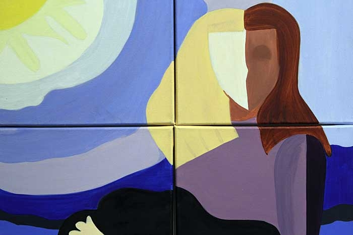 Painting of Woman in the sun