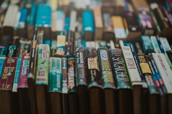 books at flea market
