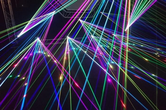Different color laser lights