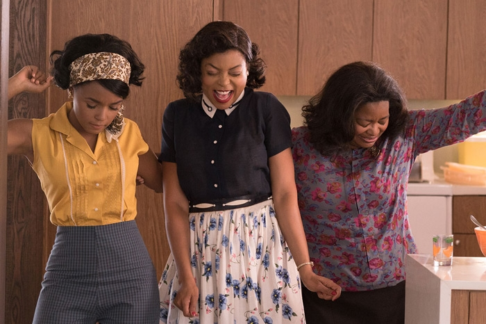 Janelle Monáe, Taraji P. Henson and Octavia Spencer in the movie Hidden Figures