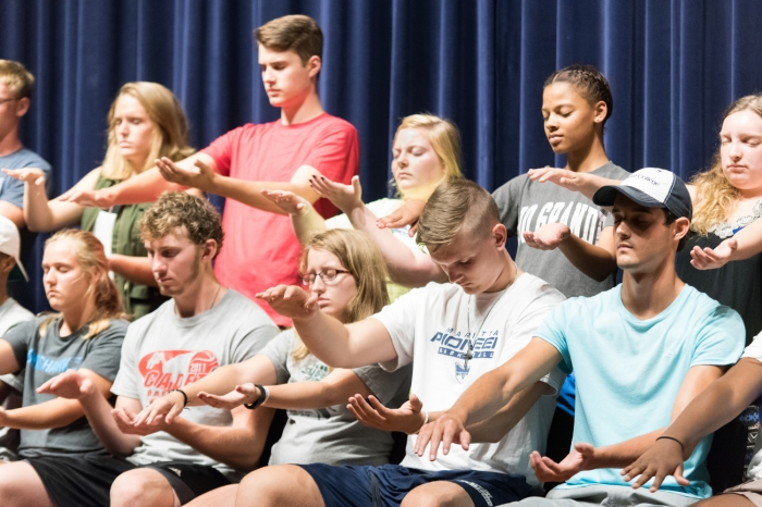 Group of students who have been hypnotized