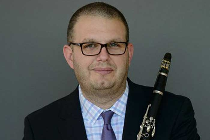 Phillip Paglialonga with clarinet