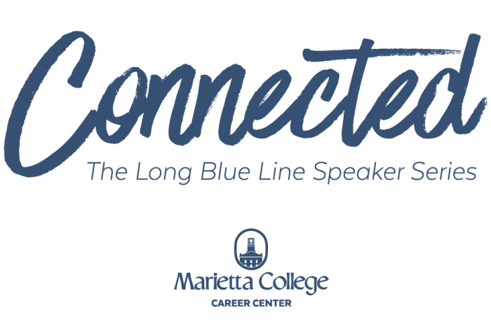 Alumni speaker series blue logo