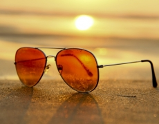 sunglasses with sunset