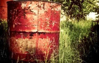 barrel dumped