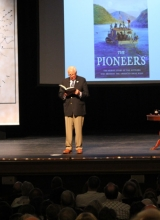 Author David McCullough speaking at Peoples Bank Theatre